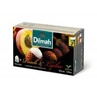 Herbata DILMAH, brzoskwiniowa i lichi, 20 torebek, Herbaty, Artykuły spożywcze