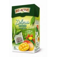 Herbata BIG ACTIVE, zielona z opuncją i mango, 20 torebek, Herbaty, Artykuły spożywcze
