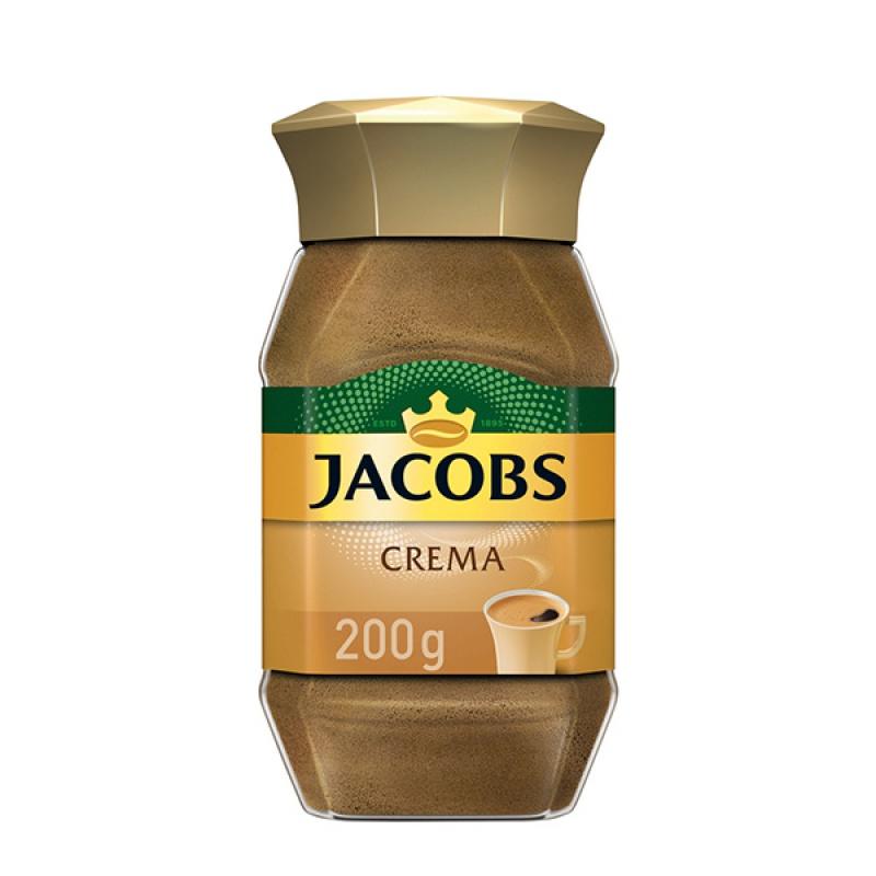 Kawa JACOBS CREMA, rozpuszczalna, 200 g, Kawa, Artykuły spożywcze