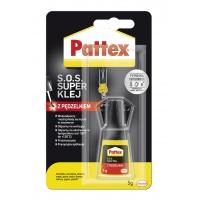 Klej z pędzelkiem SUPER PATTEX S.O.S., 5g, Kleje, Drobne akcesoria biurowe