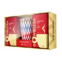 Zestaw kawa WOSEBA CREMA GOLD, mielona, 2x250g + Kubek, Kawa, Artykuły spożywcze
