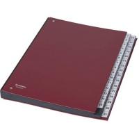 Teczka korespondencyjna / do podpisu, karton, A4, 1-31, bordowa, Teczki do podpisu i korespondencyjne, Archiwizacja dokumentów
