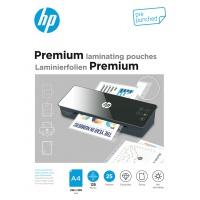 Folie laminacyjne HP PREMIUM A4, dziurkowanie, 125 mic, 25 szt., przezroczyste/połysk, Akcesoria do laminacji i bindowania, Prezentacja