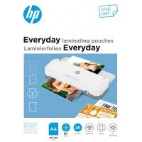 Folie laminacyjne HP EVERYDAY, A4, 80 mic, 25 szt., przezroczyste/połysk, Akcesoria do laminacji i bindowania, Prezentacja