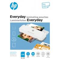 Folie laminacyjne HP EVERYDAY, A4, 80 mic, 100 szt., przezroczyste/połysk, Akcesoria do laminacji i bindowania, Prezentacja