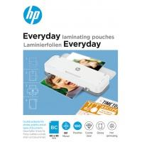 Folie laminacyjne HP EVERYDAY, BUSINESS CARD, 80 mic, 100 szt., przezroczyste/połysk, Akcesoria do laminacji i bindowania, Prezentacja