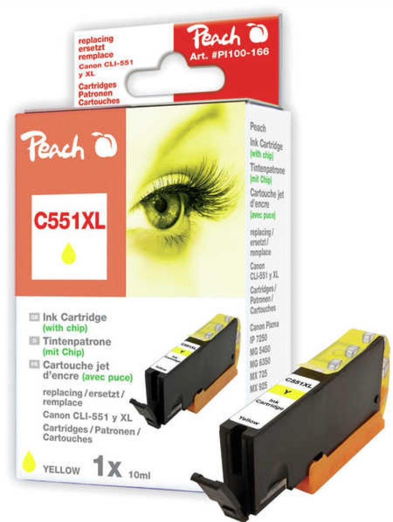 Tusz PEACH K Canon CLI-551Y XL (do Pixma IP 7200 Series), yellow