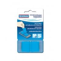 Zakładki indeksujące DONAU, PP, 25x45mm, 1x50 kart., niebieskie, Bloczki samoprzylepne, Papier i etykiety