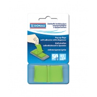 Zakładki indeksujące DONAU, PP, 25x45mm, 1x50 kart., zielone, Bloczki samoprzylepne, Papier i etykiety