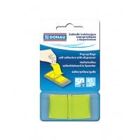 Zakładki indeksujące DONAU, PP, 25x45mm, 1x50 kart., żółte, Bloczki samoprzylepne, Papier i etykiety