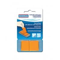 Zakładki indeksujące DONAU, PP, 25x45mm, 1x50 kart., pomarańczowe, Bloczki samoprzylepne, Papier i etykiety