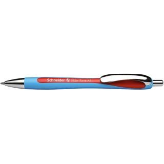 Długopis automatyczny SCHNEIDER Slider Rave, XB, czerwony, Długopisy, Artykuły do pisania i korygowania