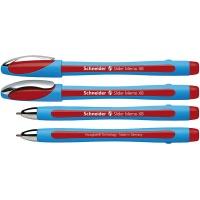 Długopis SCHNEIDER Slider Memo, XB, czerwony, Długopisy, Artykuły do pisania i korygowania