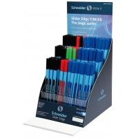 Display długopisów SCHNEIDER Slider Edge, F/M/XB, 120 szt., miks kolorów, Długopisy, Artykuły do pisania i korygowania