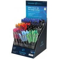 Display długopisów SCHNEIDER Slider Basic, XB, 120 szt., miks kolorów, Długopisy, Artykuły do pisania i korygowania