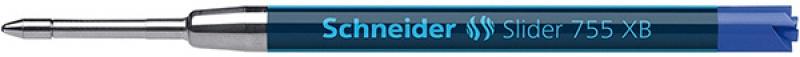 Wkład Slider 755 do długopisu SCHNEIDER , XB, format G2, niebieski, Długopisy, Artykuły do pisania i korygowania