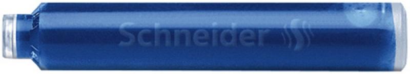 Naboje do piór SCHNEIDER, 6 szt., niebieski, Cienkopisy, pióra kulkowe, Artykuły do pisania i korygowania