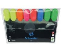 Zestaw zakreślaczy SCHNEIDER Job, 1-5 mm, 8 szt., miks kolorów, Textmarkery, Artykuły do pisania i korygowania