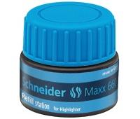 Stacja uzupełniająca SCHNEIDER Maxx 660, 30 ml, niebieski, Textmarkery, Artykuły do pisania i korygowania