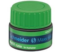 Stacja uzupełniająca SCHNEIDER Maxx 660, 30 ml, zielony, Textmarkery, Artykuły do pisania i korygowania