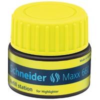 Stacja uzupełniająca SCHNEIDER Maxx 660, 30 ml, żółty, Textmarkery, Artykuły do pisania i korygowania