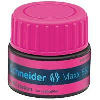 Stacja uzupełniająca SCHNEIDER Maxx 660, 30 ml, różowy, Textmarkery, Artykuły do pisania i korygowania