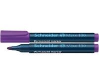 Marker permanentny SCHNEIDER Maxx 130, okrągły, 1-3mm, fioletowy, Markery, Artykuły do pisania i korygowania