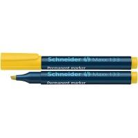 Marker permanentny SCHNEIDER Maxx 133, ścięty, 1-4mm, żółty, Markery, Artykuły do pisania i korygowania