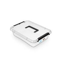 Pojemnik do przechowywania ORPLAST, SimpleStore Box, 6l, z rączką, z klipsem, transparentny, Pudła, Wyposażenie biura
