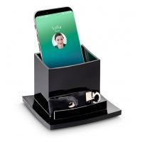 Przybornik piśmienniczy CEP BLACK DIAMOND, czarny, Przyborniki na biurko, Drobne akcesoria biurowe