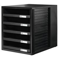 Zestaw 5 szufladek otwartych HAN CABINET-SET, PS, A4, czarny, Szufladki na biurko, Drobne akcesoria biurowe