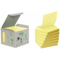 Ekologiczne karteczki samoprzylepne Post-it® Z-Notes (R330-1B), 76x76mm, 6 bl. x 100 kart., żółte, Bloczki samoprzylepne, Papier i etykiety