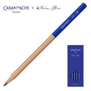 Zestaw ołówków grafitowych Caran d'Ache Klein Blue, HB, 4szt., ołówki niebieskie, Ołówki, Artykuły do pisania i korygowania