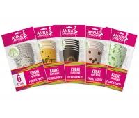 Kubki papierowe ANNA ZARADNA, 200 ml, 6 szt., mix kolorów, Naczynia jednorazowe i serwetki, Artykuły higieniczne i dozowniki