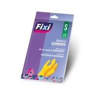 Rękawice gumowe FIXI, rozmiar S, 1 para, żółte, Rękawice, Ochrona indywidualna