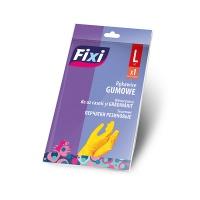 Rękawice gumowe FIXI, rozmiar L, 1 para, żółte, Rękawice, Ochrona indywidualna