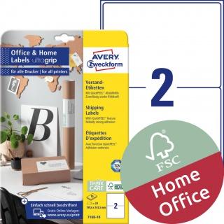 Etykiety wysyłkowe Avery Zweckform, A4, 10 ark./op., 199,6 x 143,5 mm, białe, Etykiety na paczki i przesyłki Office&Home, Etykiety