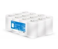 Ręczniki w roli celulozowe VELVET MINI, 2-warstwowe, 52m, 12 rolek, białe, Ręczniki papierowe i dozowniki, Artykuły higieniczne i dozowniki