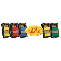 Zakładki indeksujące Post-it® (680-P5), zestaw promocyjny, 25,4x43,2mm, 3x50 + 2x50 GRATIS, mix kolorów, Zakładki indeksujące, Papier i etykiety