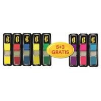 Zakładki indeksujące Post-it® (683-P5+3), zestaw promocyjny, 11,9x43,1mm, 5x35 + 3x35 GRATIS, mix kolorów, Zakładki indeksujące, Papier i etykiety