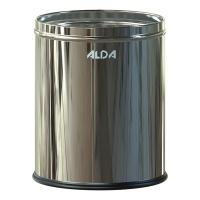 Kosz na śmieci ALDA ROOM BASKET, 7l, stal nierdzewna, srebrny połysk, Kosze metal, Wyposażenie biura