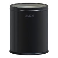 Kosz na śmieci ALDA ROOM BASKET, 7l, stal powlekana organicznie, czarny, Kosze metal, Wyposażenie biura