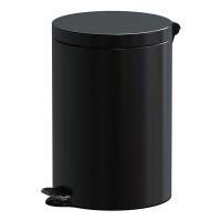 Kosz na śmieci ALDA FREEDOM FRESH, 20l, stal powlekana organicznie, czarny, Kosze metal, Wyposażenie biura