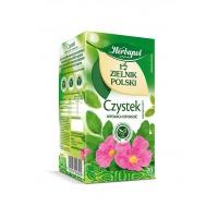 Herbata HERBAPOL Zielnik Polski, czystek, 20 torebek, Herbaty, Artykuły spożywcze