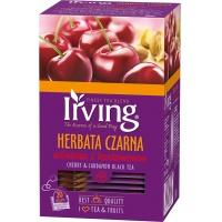 Herbata IRVING, czarna, wiśnia z kardamonem, 20 kopert, Herbaty, Artykuły spożywcze