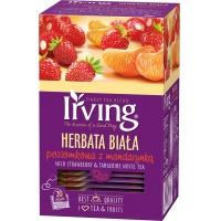 Herbata IRVING, biała, poziomkowa z mandarynką, 20 kopert, Herbaty, Artykuły spożywcze