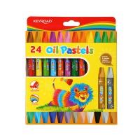 Kredki pastelowe KEYROAD, sześciokątne, 24szt, zawieszka, mix kolorów, Plastyka, Artykuły szkolne