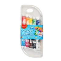 Farby plakatowe KEYROAD, w pudełku, 10 x 10ml, mix kolorów, Plastyka, Artykuły szkolne
