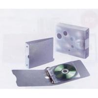 Segregator RING na 10 CD, 180 x 40 x 150mm, szary, Pojemniki na CD, Archiwizacja dokumentów