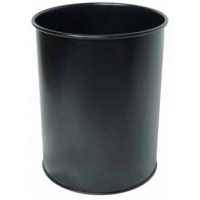 Kosz na śmieci, 15l, czarny, Kosze metal, Wyposażenie biura